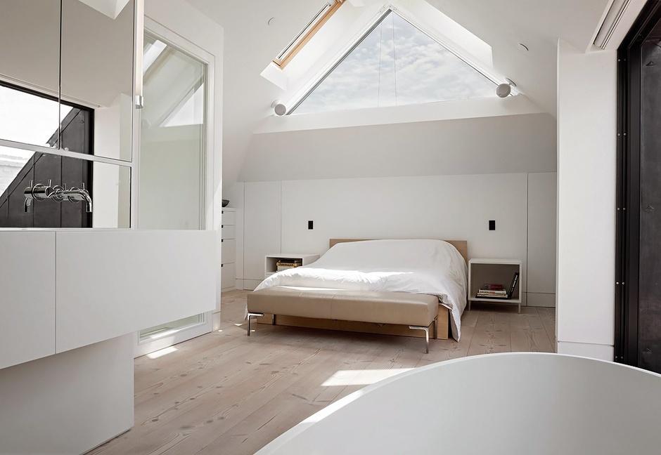 Бело-коричневый лофт в Ноттинг Хилле