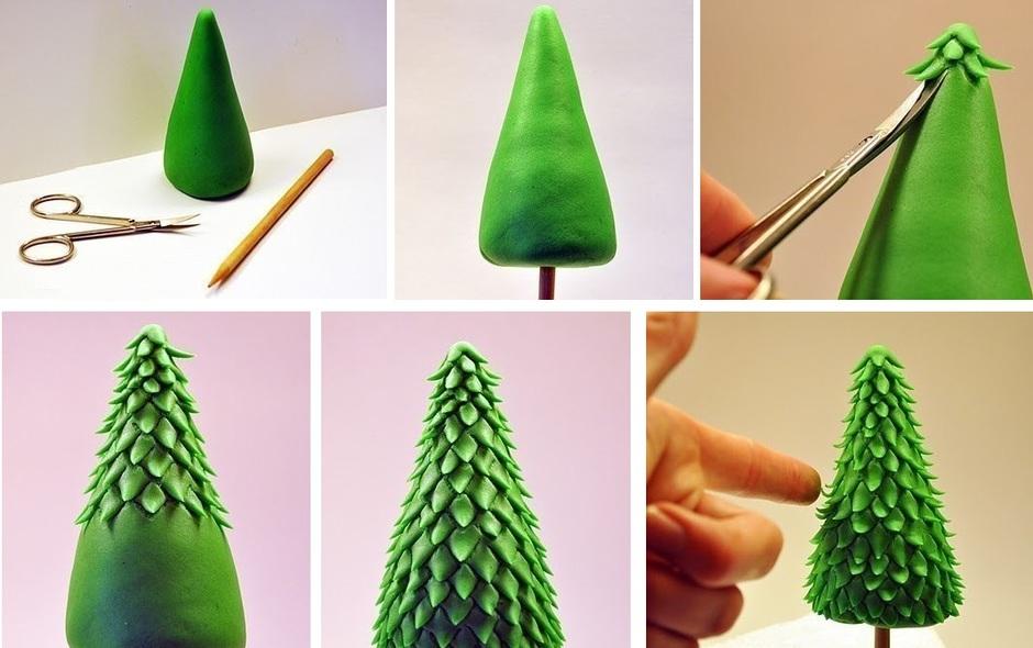 Новогодние игрушки из полимерной глины своими руками