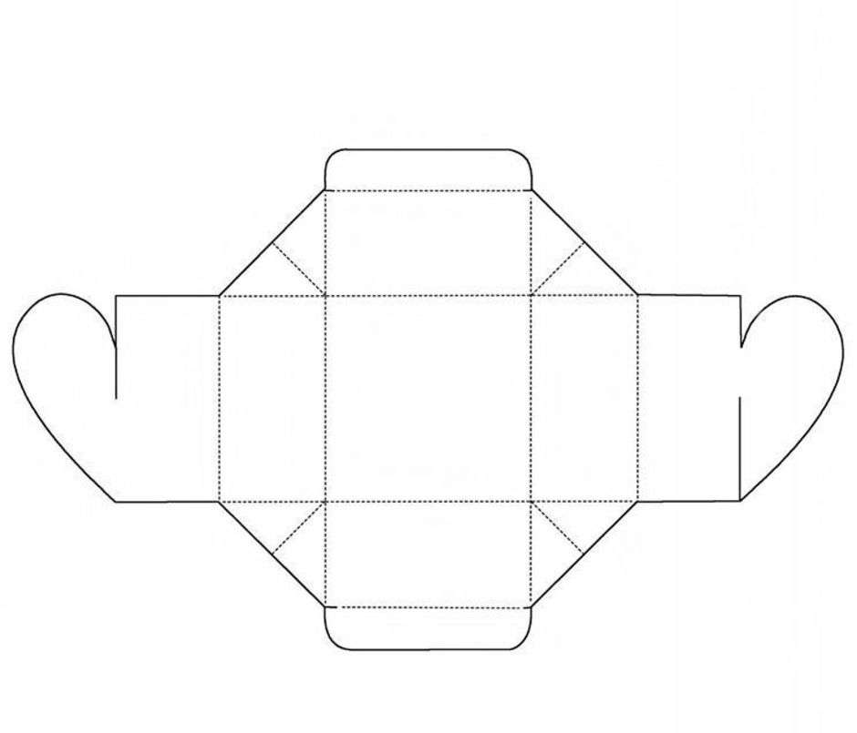 Как сделать коробочку сердечко из картона
