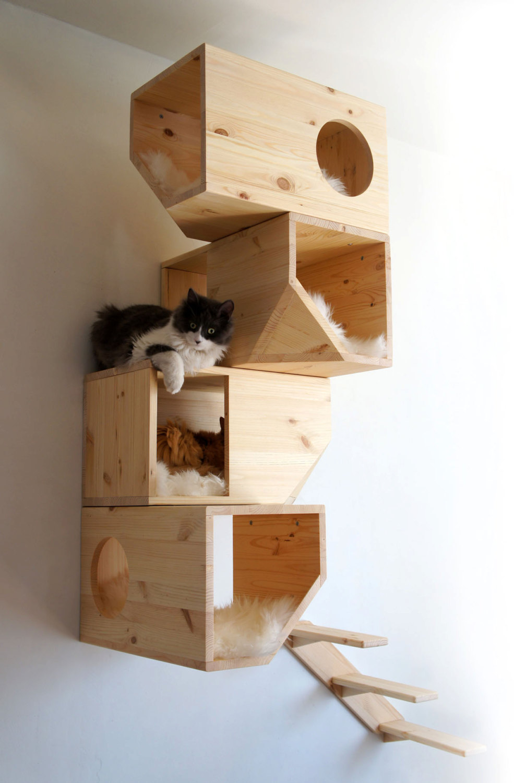 Как сделать дом для кошки своими руками чертежи