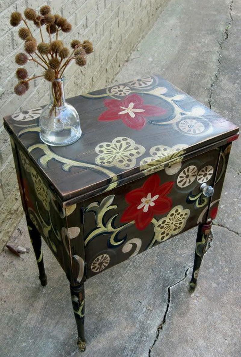 Мебель расписанная своими руками