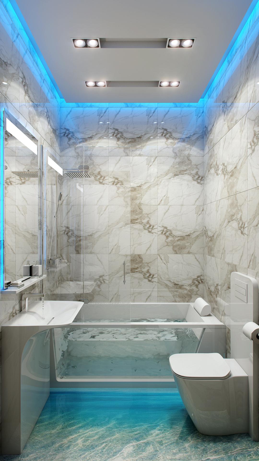 потолок в маленькой ванной комнате дизайн фото
