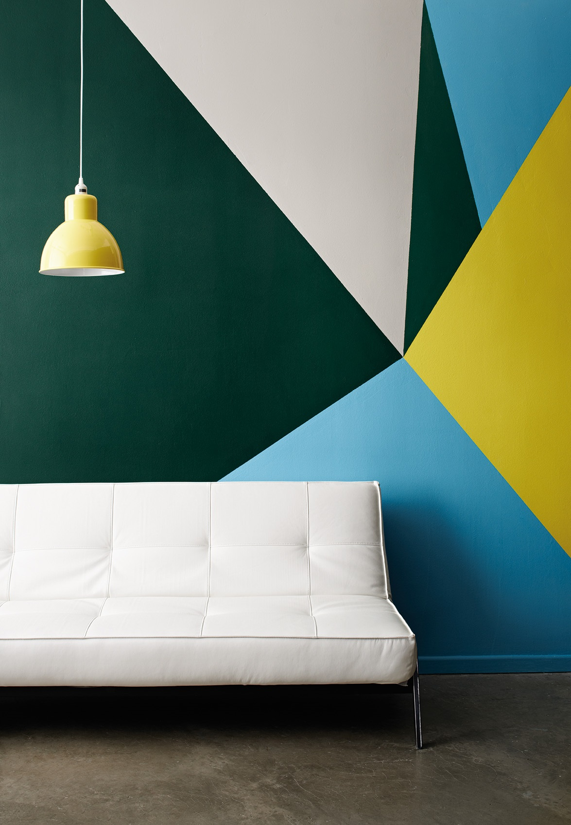 Дизайн стен с геометрическими фигурами