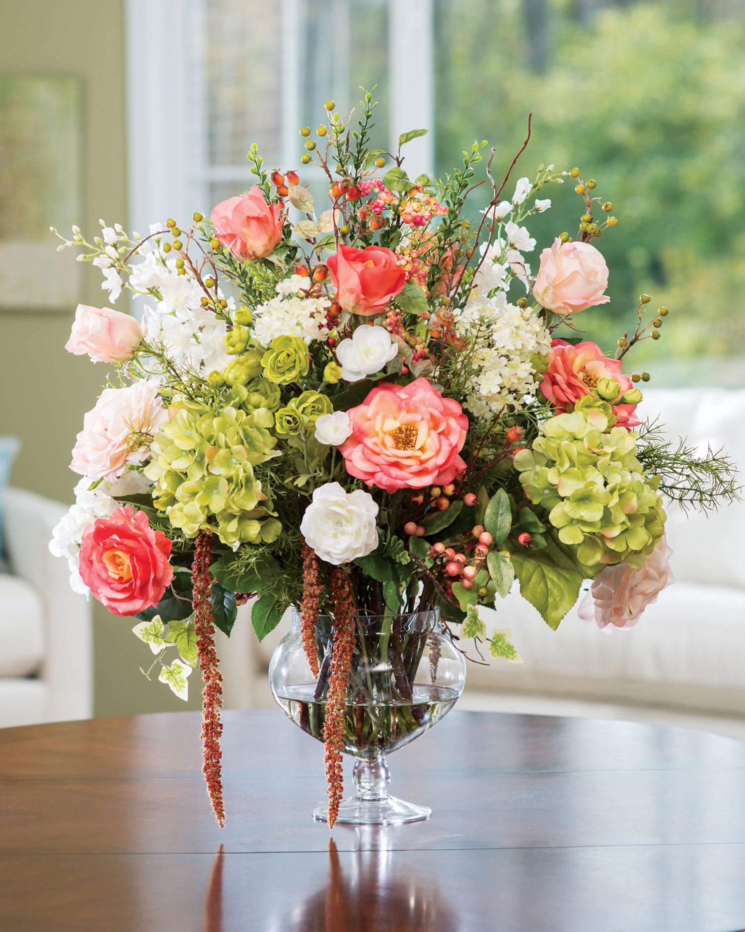 Композиции из цветов в вазе своими руками