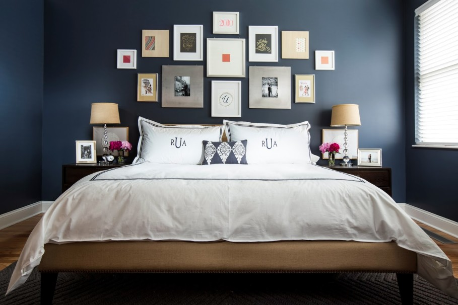 картинки для спальни над кроватью возведён красного