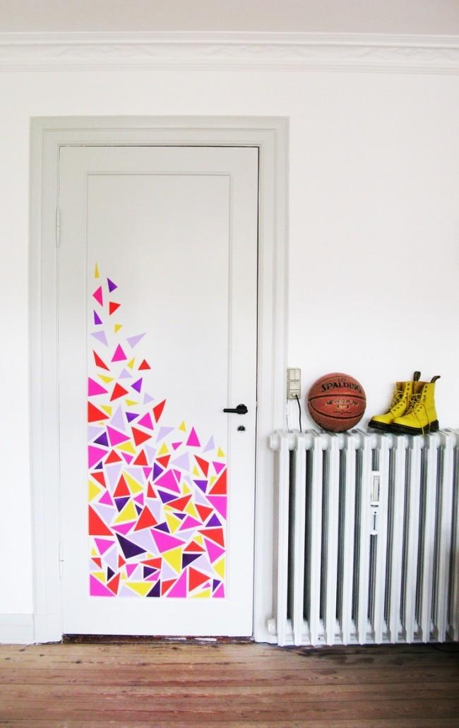 Разрисовка дверей своими руками 46