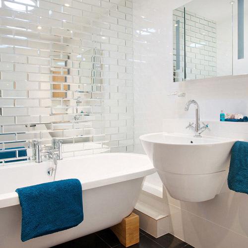 освещение маленькой ванной комнаты