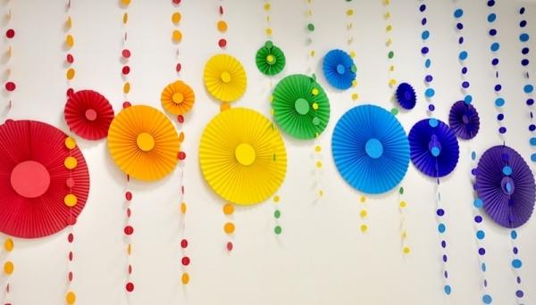 Бумажные зонтики вертушки своими руками
