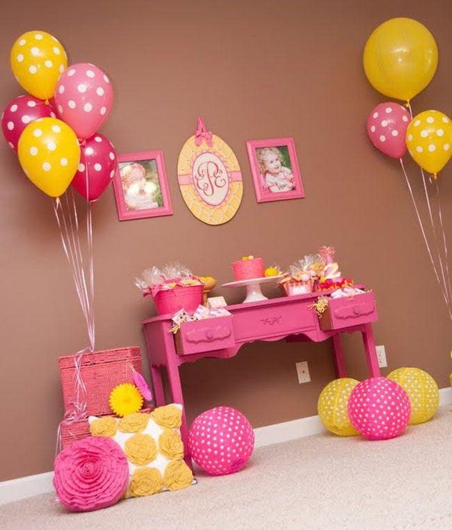 Украшения для дня рождения из шариков для детей