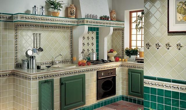 Кухня с плиткой своими руками