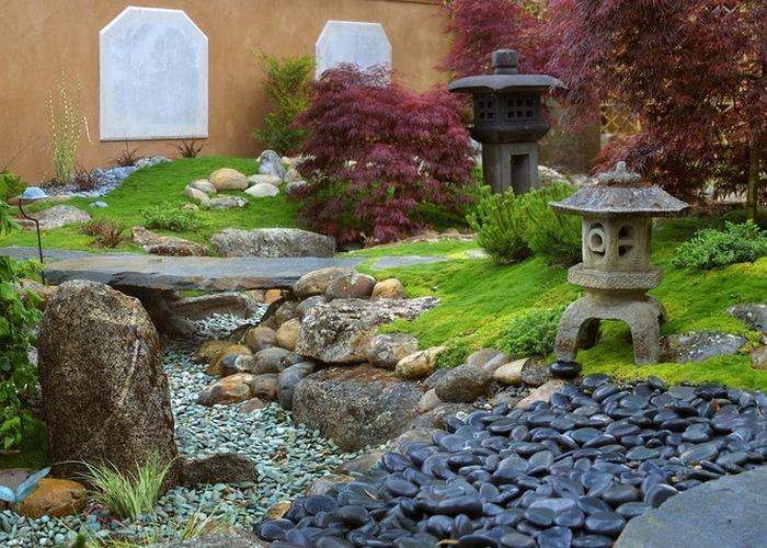 Японский садик на даче своими руками