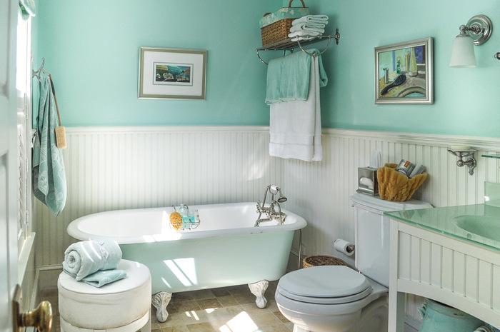 15 мятных ванных комнат Вдохновение