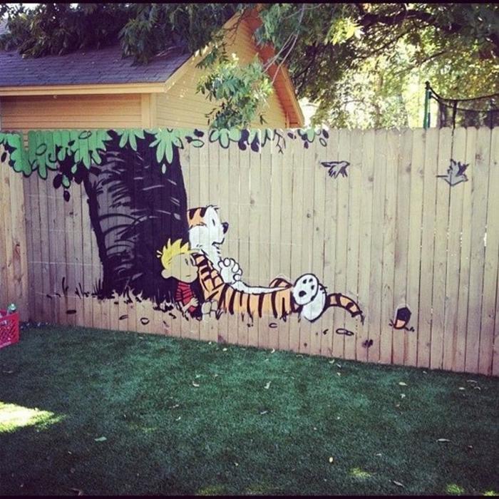 рисунки на заборе на даче своими руками фото простые участники делают