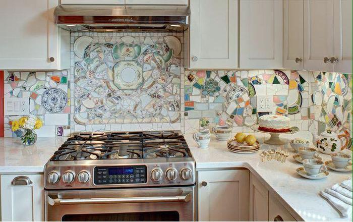 Выложить фартук на кухне своими руками фото 763