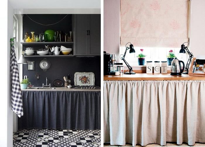 эмили решили, кухня со шторками вместо дверок фото менее крупных музеях
