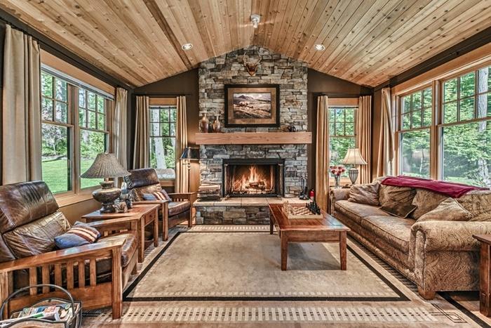 картинки гостиная комната в деревенском стиле
