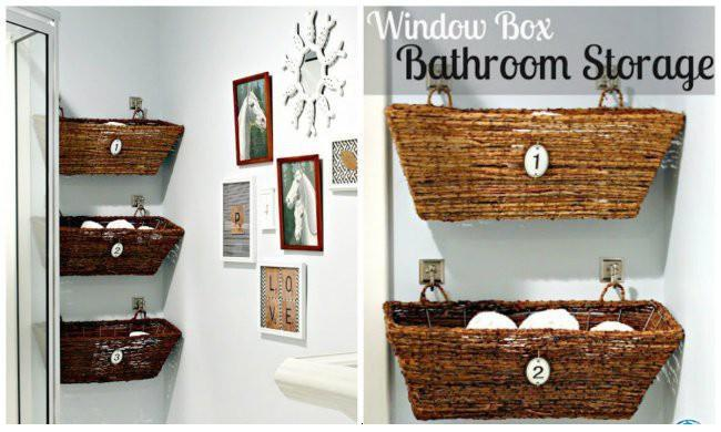 Удобное хранение в ванной