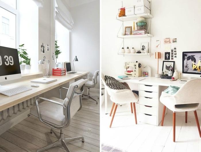 Домашний офис на двоих: 7 идей - вдохновение.
