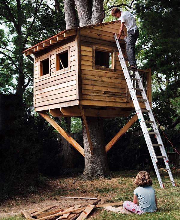 Как сделать ребенку свой домик на дереве 460