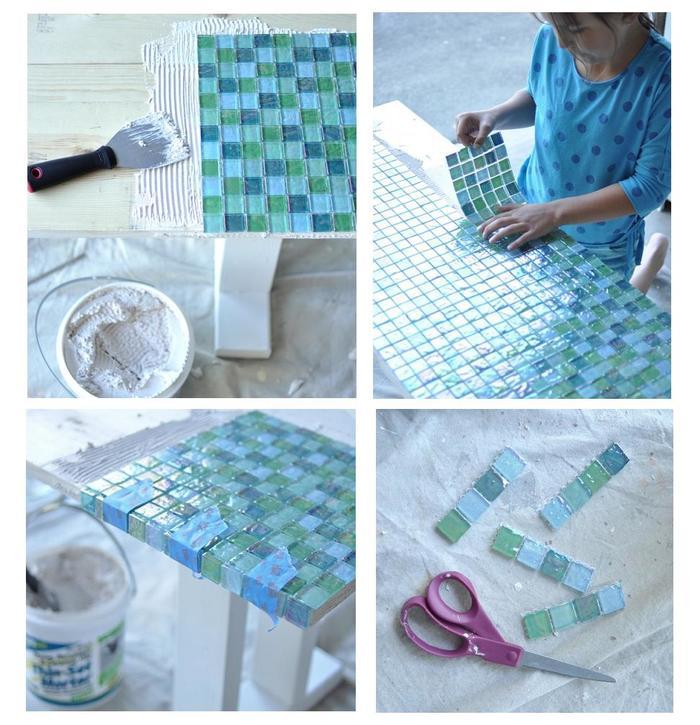 33Как сделать мозаичный столик мастер класс