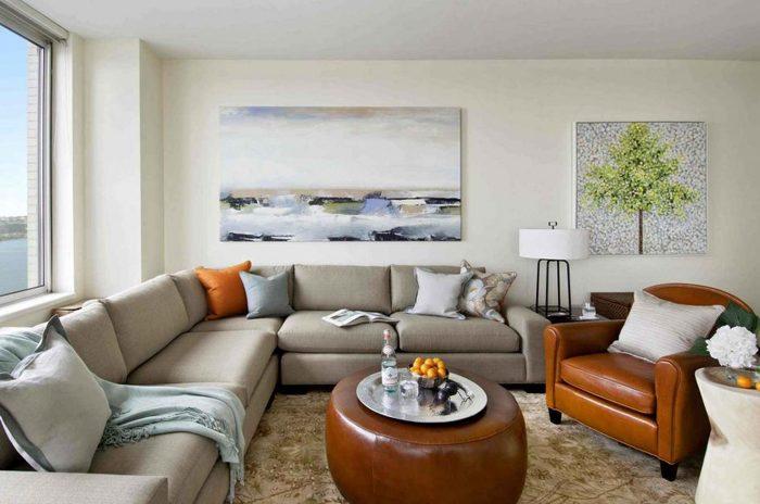 20 гостиных с угловыми диванами Фотоподборки