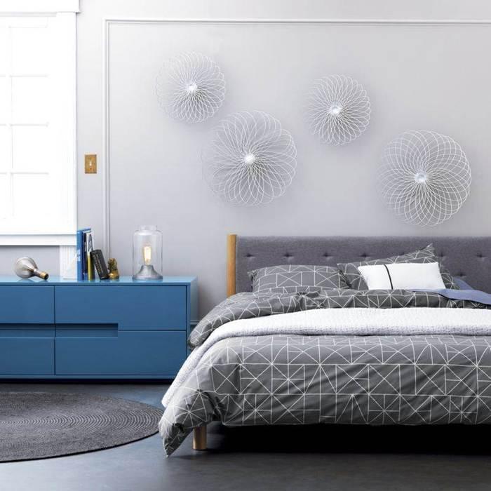 Homify S Best Grey Bedroom Ideas: Серый с синим: 40 примеров благородного цветового