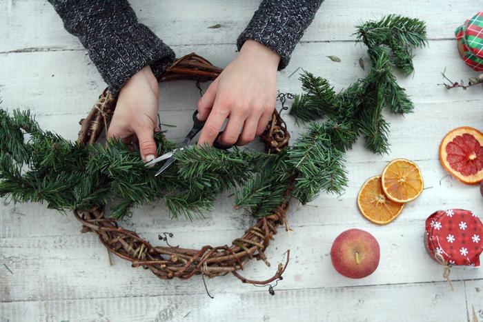 Image result for новогодний венок своими руками