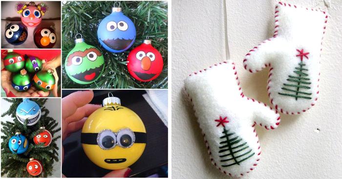 новогодние игрушки своими руками фото