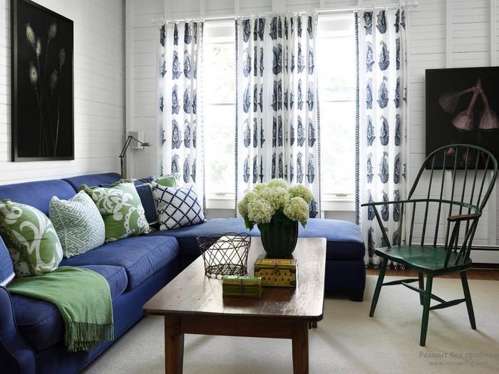 Сочетание цветов в интерьере гостиной