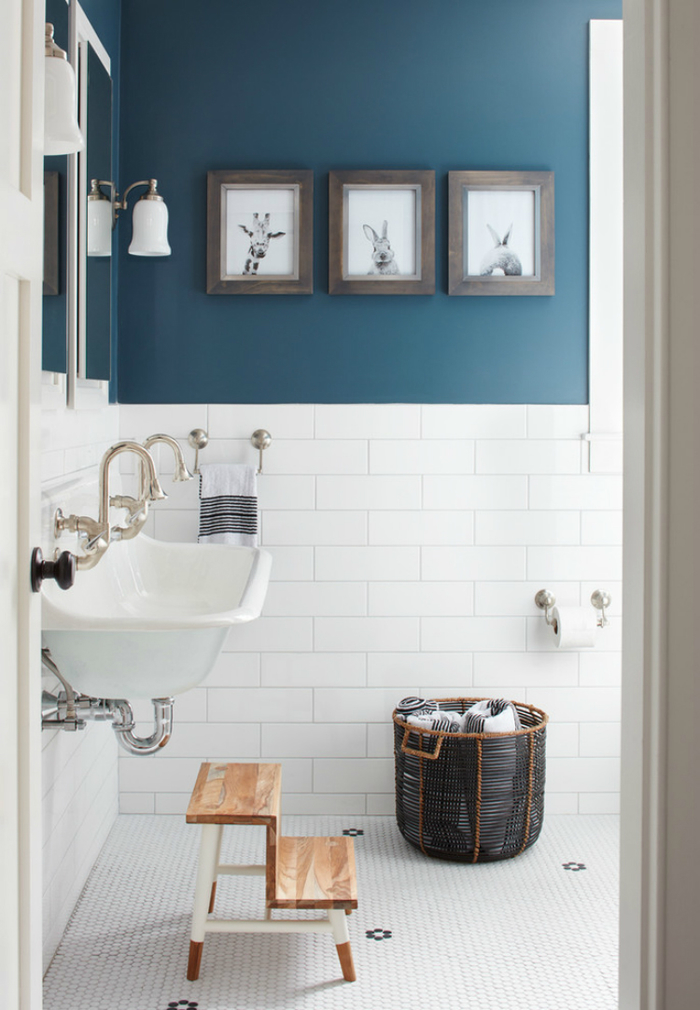 Astounding Blue And White Bathroom Decorating Ideas