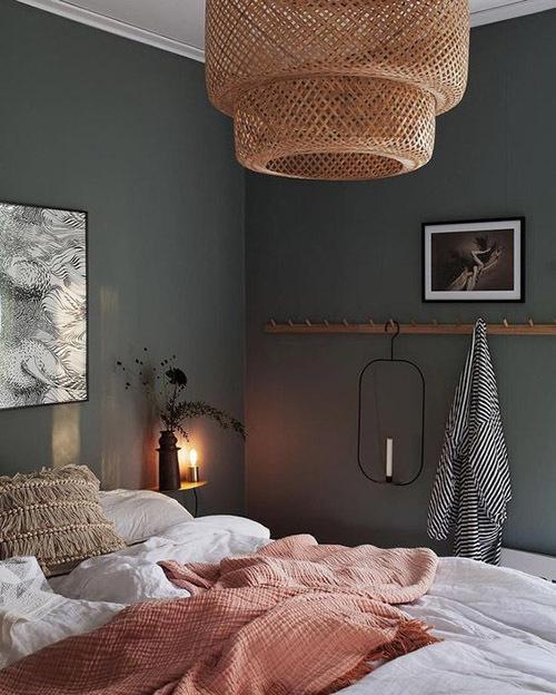 персиковый цвет в интерьере фото