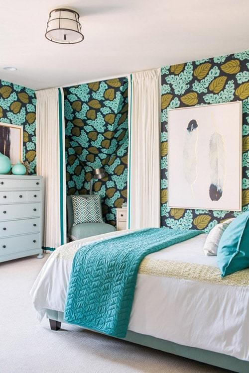 сочетание цветов в интерьере спальни фото
