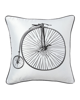 Подушка Retro Bicycle White