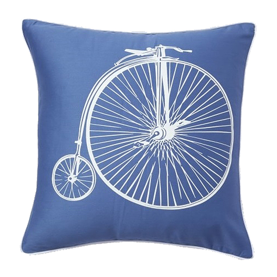 Подушка Retro Bicycle Blue