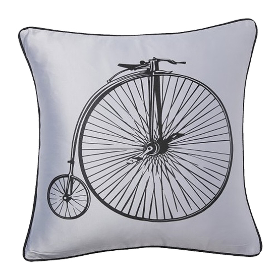 Подушка Retro Bicycle Grey
